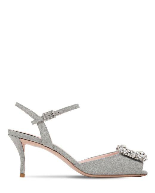 Roger Vivier Metallic 65mm Embellished Glittered Sandals
