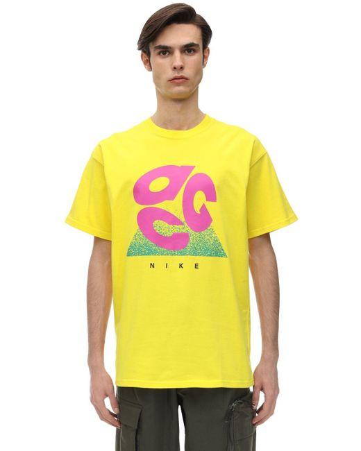 メンズ Nike Acg コットンジャージーtシャツ Yellow