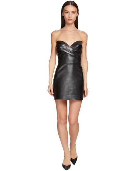 Ermanno Scervino レザーコルセットドレス Black