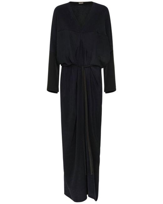 Loewe Kimono シルククレープドレス Blue
