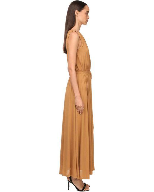 Max Mara ジャージークレープドレス Brown