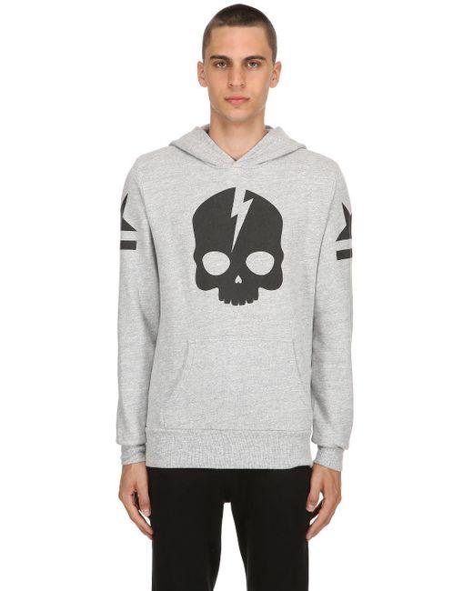 Hydrogen - Gray Icon Skull Sweatshirt Hoodie for Men - Lyst