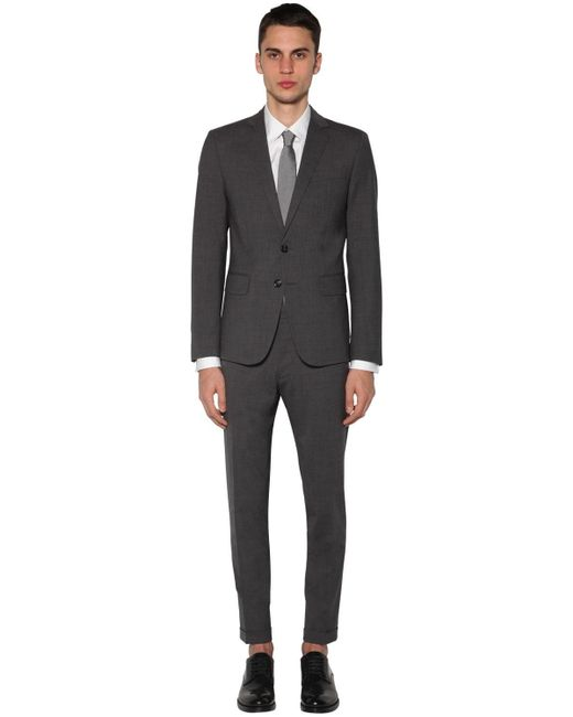 メンズ DSquared² Paris ストレッチウール混スーツ Gray