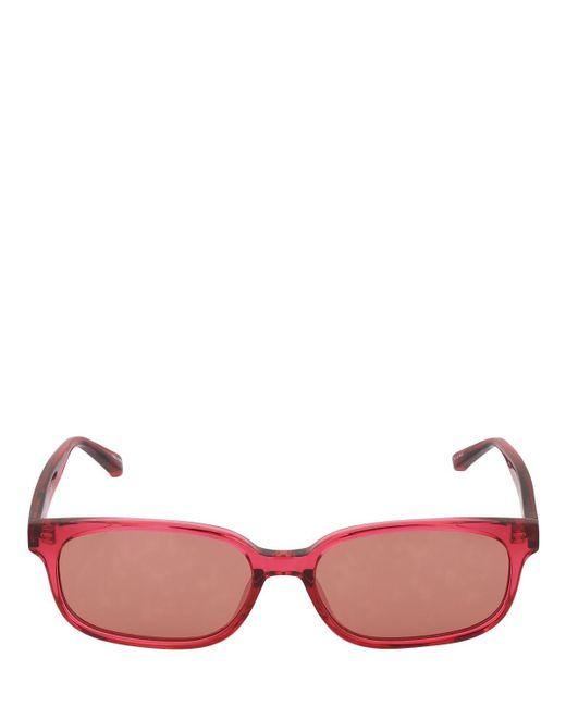 The Attico Red Gigi Small Round Acetate Sunglasses