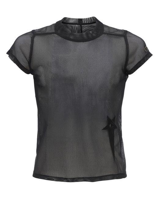 メンズ Rick Owens Champion クロップドシアーメッシュtシャツ Black