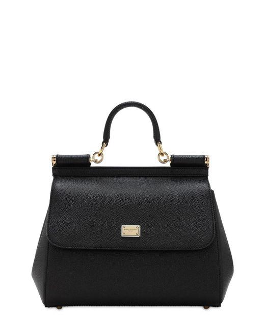 Dolce & Gabbana Sicily Dauphine レザーバッグ Black