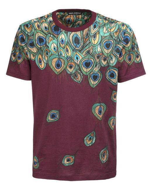 メンズ Dolce & Gabbana コットンtシャツ Multicolor
