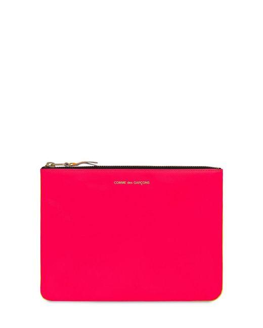Comme des Garçons Super Neon レザーポーチ Pink