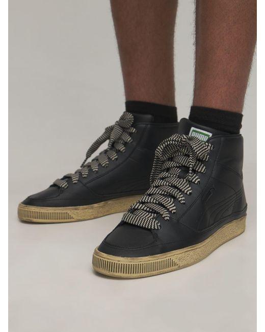 Baskets En Daim Mid X Rhuigi PUMA pour homme en coloris Noir - Lyst
