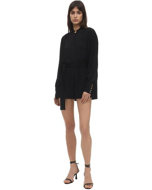 Платье Из Крепдешина С Поясом Proenza Schouler, цвет: Black