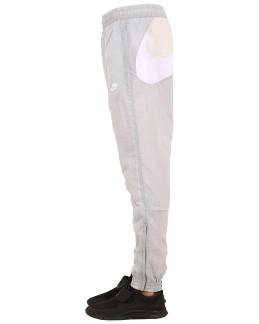 Nike Nsw Vw Swoosh Woven Track Pants in Gray for Men Lyst