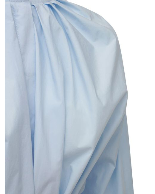 J.W. Anderson ベルテッドサテンシャツ Blue