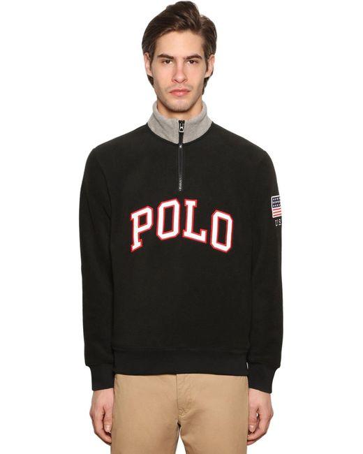 メンズ Polo Ralph Lauren テクノスウェットシャツ Black