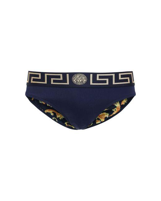 Купальные Трусы Из Нейлона С Логотипом Versace для него, цвет: Blue