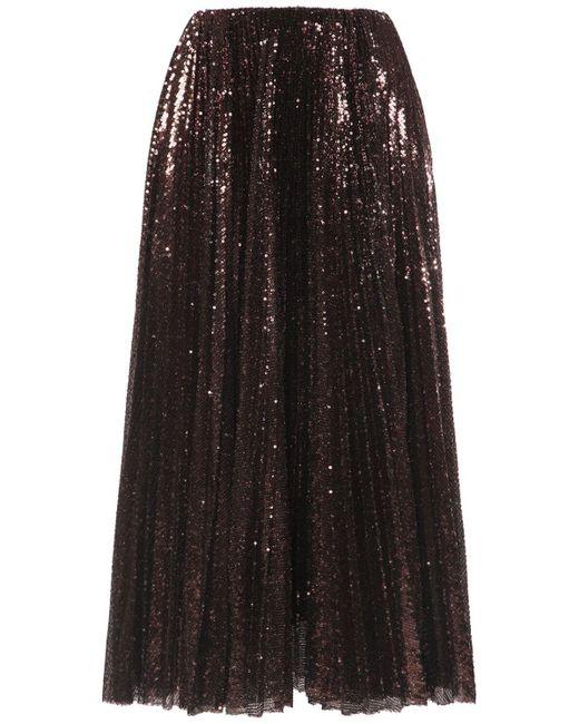Ralph Lauren Collection スパンコールチュールスカート Multicolor
