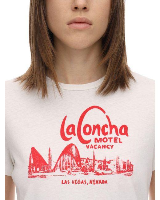 Re/done La Concha Motel コットンtシャツ White