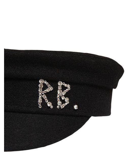 Шерстяная Кепка Со Стразами Ruslan Baginskiy, цвет: Black