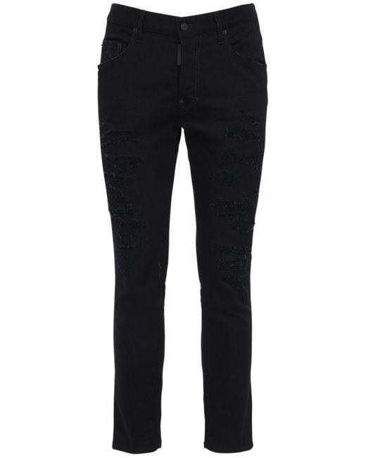 メンズ DSquared² Skater コットンデニムジーンズ 16.5cm Black