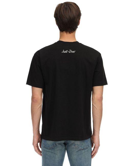 メンズ Just Don コットンジャージーtシャツ Black