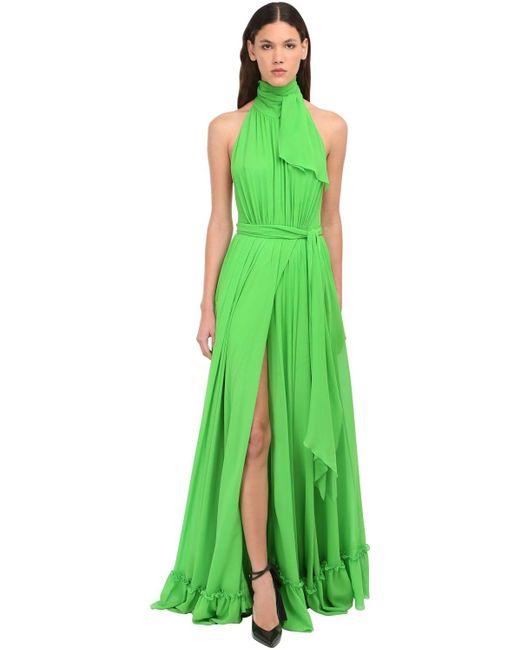 Dundas シルクサテンドレス Green