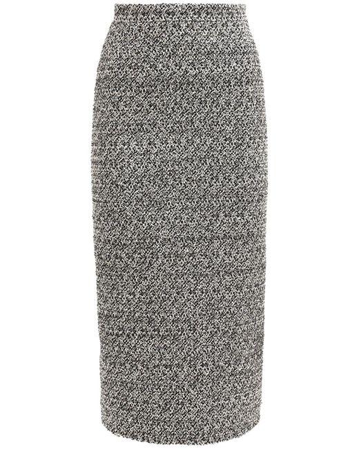 Alessandra Rich スパンコールツイードスカート Gray