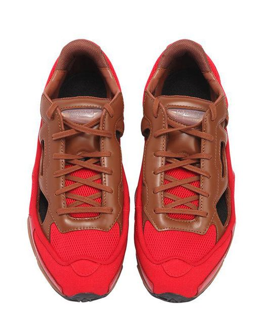 5dd4a0e4c8c6 ... Adidas By Raf Simons - Red Rs Replicant Ozweego Sneakers   Socks for  Men ...