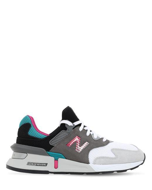 メンズ New Balance カラーブロック スニーカー Gray