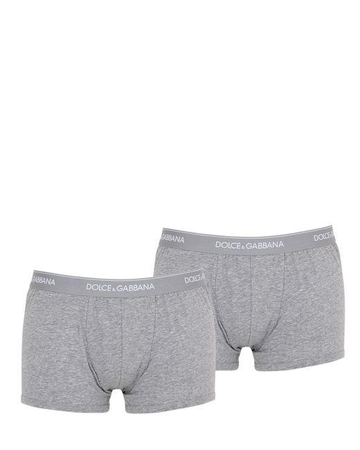 Набор Трусов-боксеров Из Хлопка С Логотипом Dolce & Gabbana для него, цвет: Gray
