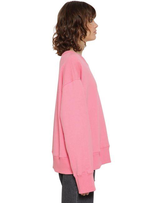 MM6 by Maison Martin Margiela コットンスウェットシャツ Pink