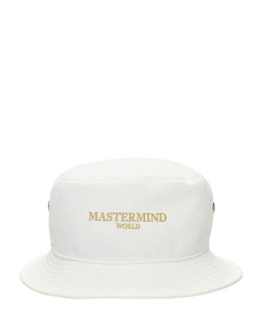 メンズ MASTERMIND WORLD バケットハット White