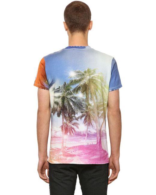 メンズ Balmain コットンジャージーtシャツ Multicolor