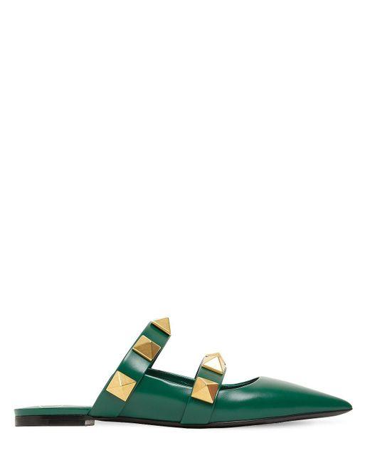 Valentino Garavani Кожаные Туфли-мюли 10mm Valentino Garavani, цвет: Green