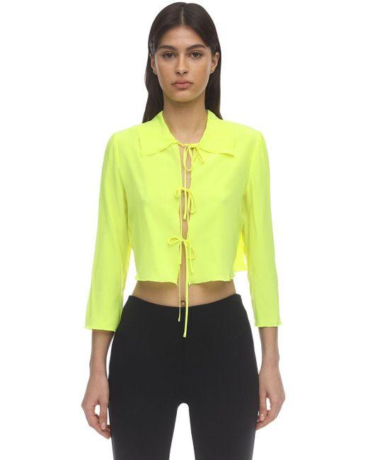 Maryam Nassir Zadeh Wren クレープデシンシャツ Yellow