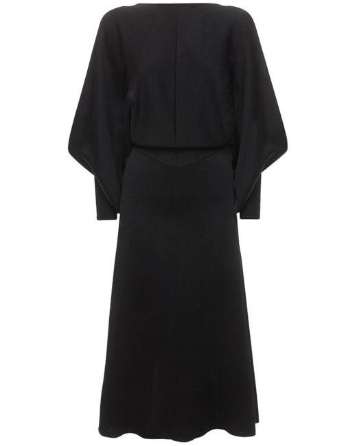 Victoria Beckham サテンドレス Black