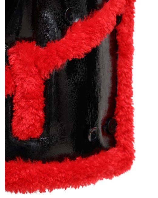 Пальто Из Искусственной Овчины Melendy Stand Studio, цвет: Red