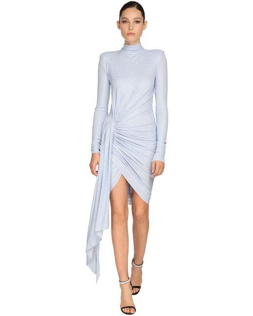 Платье Из Джерси Со Стразами Alexandre Vauthier, цвет: Blue