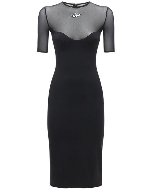Платье Стрейч Athleisure Off-White c/o Virgil Abloh, цвет: Black