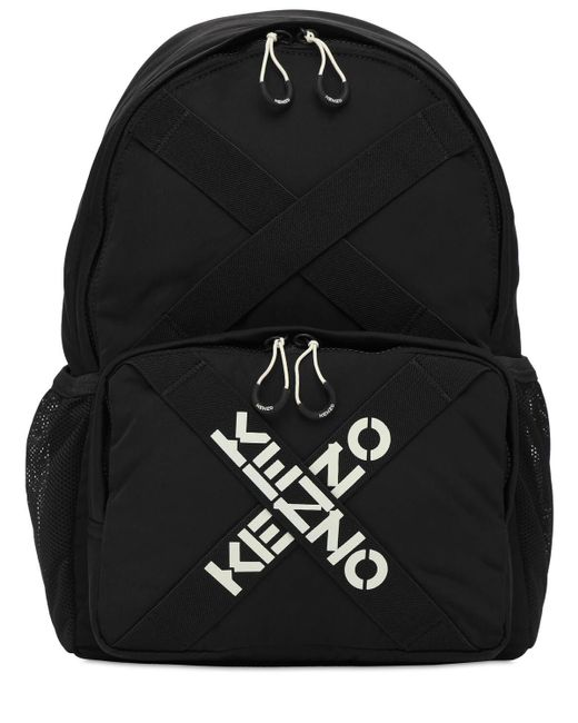 KENZO Black Rucksack Mit Logostickerei