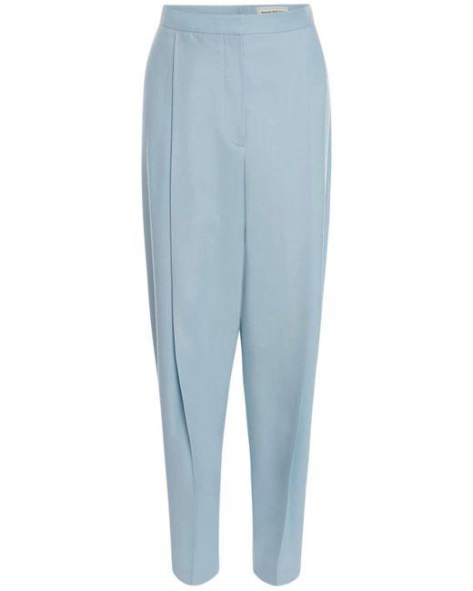 Alexander McQueen ウールストレートパンツ Blue