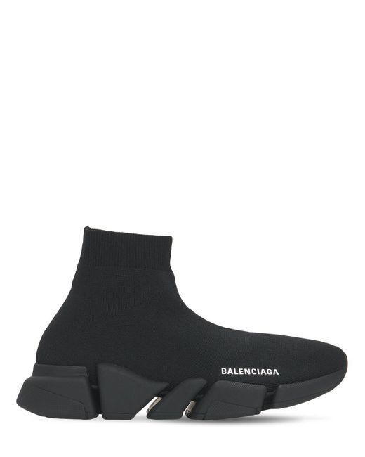 メンズ Balenciaga Speed 2.0 Sport ニットスニーカー Black