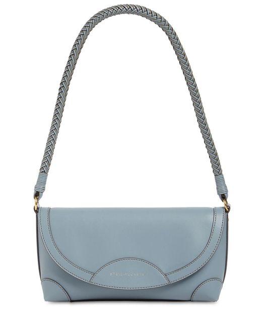 Stella McCartney Blue Small Faux Leather Shoulder Bag