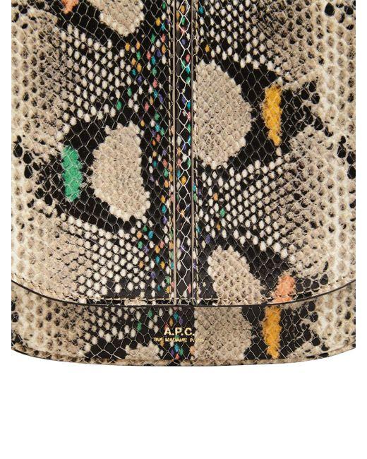A.P.C. Betty パイソンプリントレザーバッグ Multicolor