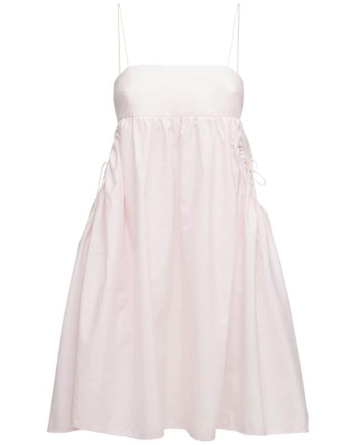 CECILIE BAHNSEN Lisbeth オーガニックコットンミニドレス Pink