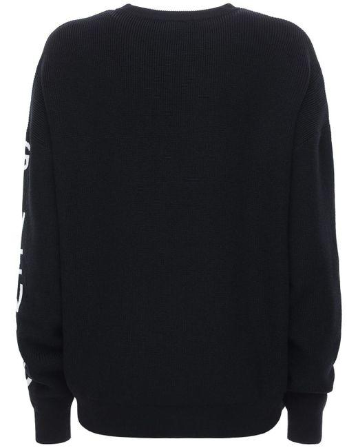 Givenchy オーバーサイズウールブレンドセーター Black