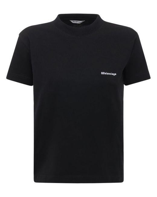 Футболка Из Хлопкового Джерси С Принтом Balenciaga, цвет: Black
