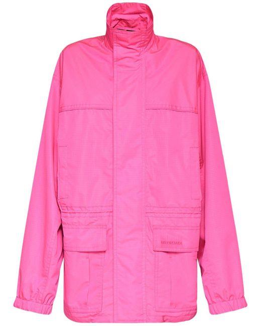 Куртка-парка Из Рипстоп Balenciaga, цвет: Pink