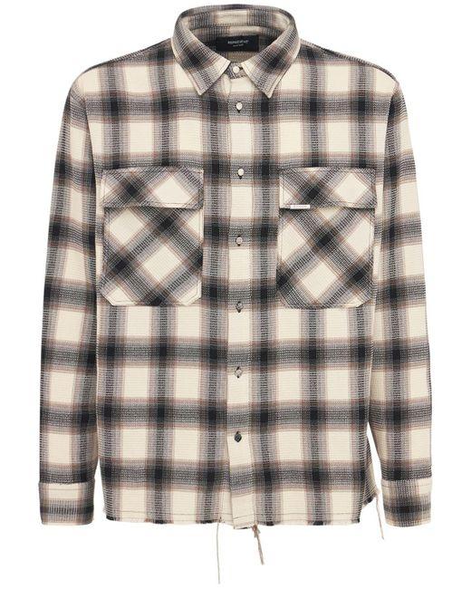メンズ Represent コットンフランネルシャツ Multicolor