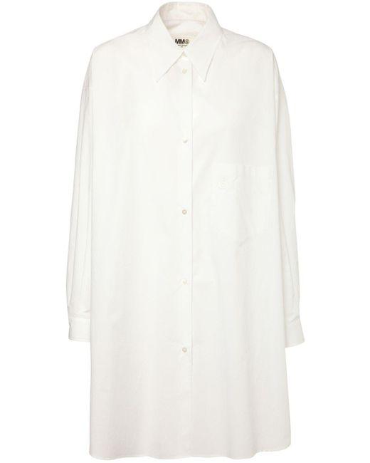 MM6 by Maison Martin Margiela オーバーサイズコットンポプリンシャツドレス White