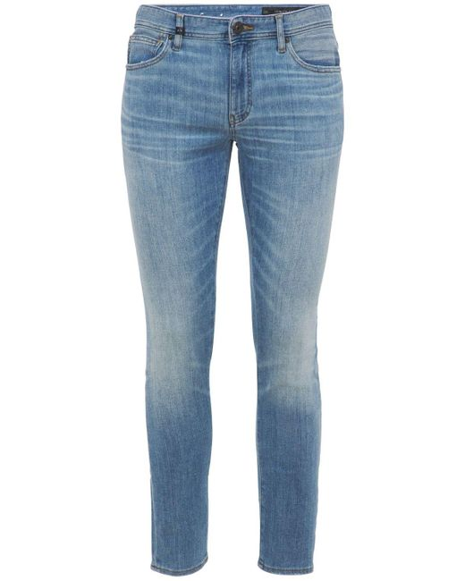 メンズ Armani Exchange 5 Pockets ストレッチコットンデニムジーンズ Blue