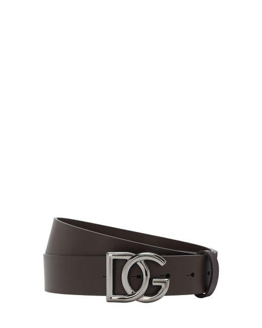 メンズ Dolce & Gabbana レザーベルト 35mm Brown